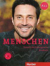 Hueber MENSCHEN A2.1 Deutsch als Fremdsprache KURSBUCH mit Lerner DVD-ROM @New@