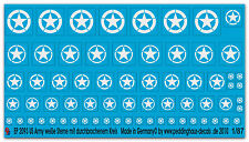 Peddinghaus 2093 1/87  US Army Sterne weiss mit durchbrochenem Kreis