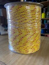 """1/4"""" x 3280 ft. Spool of 8 Strand Hollow Braid Polypropylene rope. Yellow/red."""