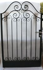 Pedestrian Gate Wrought Iron Adjustable 1.1m to 1.2m opening, 1.8m high In Stock