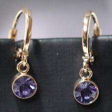 Gorgeous Purple Amethyst Drop Earrings Women Jewelry Anniversary Jewelry Gift