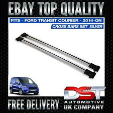 FORD COURIER CROSS BARS SET (PAIR) For ROOF RAILS SATIN SILVER 2014> OEM QUALITY