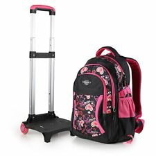 Kids Trolley Backpack Student School Detachable Large Luggage Bag With Wheels