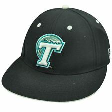 Ncaa Fitted Cap Hat Flat Black Tulane Green Wave 6 7/8