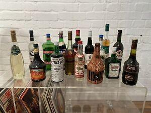 Konvolut alter Spirituosen um 1980 Vintage Sherry Kräuter Likör Wodka und andere
