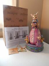 Jim Shore Egg-Cited For Easter Bunny - Platform will spin (Free Shipping)