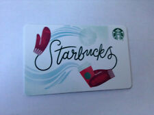 NEW STARBUCKS 2018 CHRISTMAS HOLIDAY GIFT CARD RED GLOVES RELOADABLE !