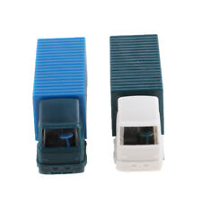 2x Plastic 1:100 HO Container Truck Construction Vehicle Freight Car Models