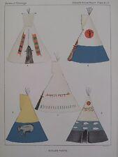 Dakota Sioux Indian Tents Tipis Sun Dance Celebration 1894 Print