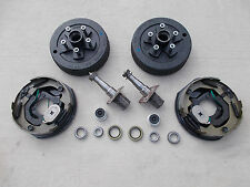 Build Your Own 3500# Electric Brake Trailer Axle Kit EZ Lube Spindle 5x4.5 Drum