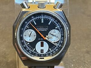 1971 Citizen Stainless Steel BULLHEAD AUTOMATIC FLYBACK Chronograph 4-901223 TA