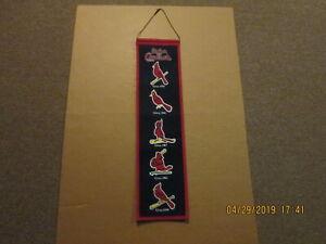 MLB St.Louis Cardinals Circa 1930 1942 1967 1982 & 2000 Logos Baseball Banner