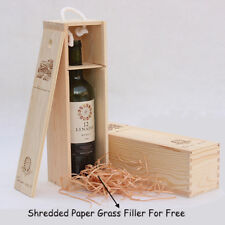 2x ONE BOTTLE WOOD WINE BOX CARRIER PARTY BIRTHDAY HOUSEWARMING WINE LOVER BOXES