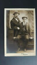 Portrait of Two Anonymous Men - Lester's Treherbert Real Photo Postcard