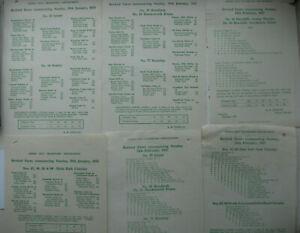 6 Leeds City Transport Bus Revised Fares Leaflets 1955 - 1957 (Set 1)