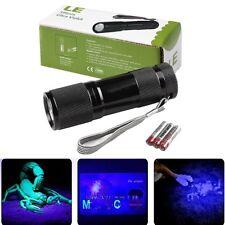 395nm Ultraviolett 9 LEDs UV Taschenlampe mit Batterien Schwarzlicht Handlampe