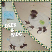 Doudou plat rond Beige et vert - Hippopotame marron - Baby nat - Ref C20