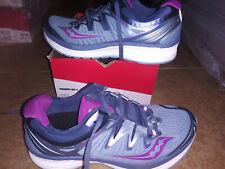 NEW $159 Womens Saucony Triumph ISO 4 running shoes, size 7.5    fog grey purple