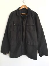 MARCS Designer Mens Smart Casual Windbreaker Nylon Jacket Coat Black L Large