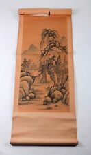 Antique Watercolor Oriental Scroll