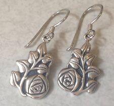 With Rose Motif, Konder #788 Beautiful Victorian Style Sterling Silver Earrings