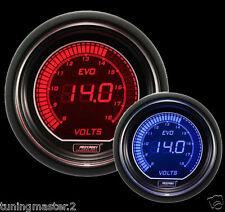 Calibrador de presión Herramienta PROSPORT 52mm VOLTímetro 8-18 VOLTIOS Rosso/