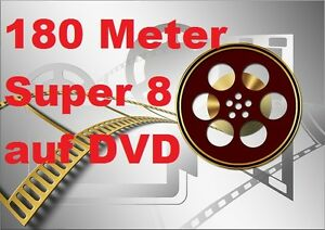 180 Meter SUPER 8 auf DVD DIGITALISIEREN Film Überspielen Kopieren Projektor