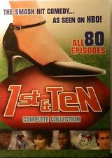 1st & TEN The COMPLETE SERIES Delta Burke 40 Hours of Laughs 80 Episodes SEALED