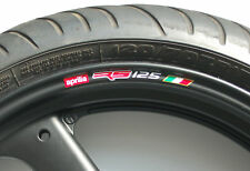 APRILIA RS125 WHEEL RIM STICKERS - COLOURS rs 125 fp r