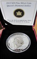 2012 $20 Queen Diamond Jubilee - Ultra High Relief in Fine Silver-7500 Worldwide