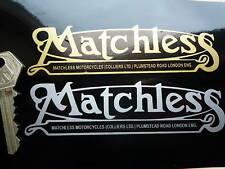 "MATCHLESS Motorcycle Mudguard Script Type Stickers 5"" Pair Bike Classic Vintage"