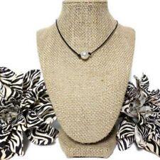 Lady hebilla de langosta sint/ética Pearl joyer/ía cadena collar cuello blanco