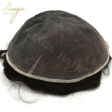 8*10 Toupee Mens Hairpiece SWISS LACE Human Hair Replacement System