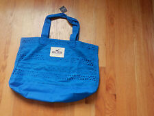 HOLLISTER  NWT Classic Beach LOGO TOTE BOOK SCHOOL BAG Blue