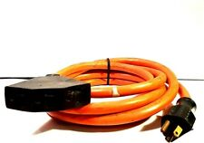 12ft SPT-3 14/3 Heavy Duty Extension Cord Orange 3-Outlet ( Water Resistant )