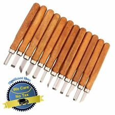 Wood Carving Hand Chisel Tools 12 Piece Set Woodworking Professional Cut Gouges