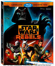 Disney Star Wars Rebels 3 Disc Blu-ray Complete Season 2 English French Spanish