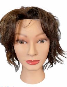 Marianna Miss Suzie-Kin Brown Hair Cosmetology  Hair Mannequin Head 14901