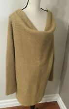 Covington Women Metallic Gold Sparkle Long Sleeve Cowl Neck Tunic Sweater 22W