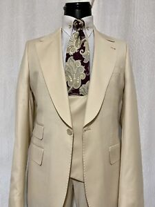 Mens Made To Order Bone Suit 40R