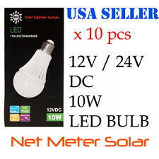 10x 12v 24v DC 10W LED light bulb Solar Home RV Emergency E26 Off Grid Boat USA