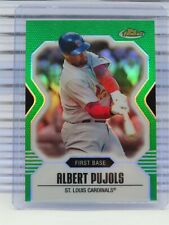 New listing 2007 Topps Finest Albert Pujols Green Refractor #136/199 Cardinals V30