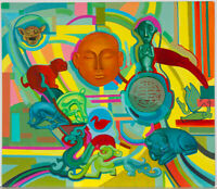John Cherrington (1931-2015) - 20th Century Acrylic, Abstract Symbols I