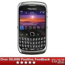 Blackberry Curve 9300 desbloqueado teléfono móvil de teclado AZERTY Prístina-Negro