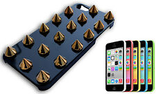 HOUSSE COUVERTURE PARE-CHOCS COMPATIBLE APPLE IPHONE 5 RIGIDE GOUJONS CLOU ORO