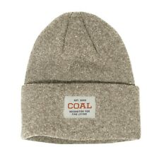 Coal The Recycled Uniform Wool Polyester Knit Cuff Beanie Natural OSFM New
