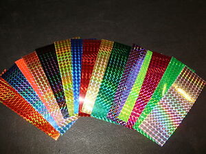 """2"""" x 6"""" 3PK Flasher/Dodger/Lure Reflective Holographic Prism Fishing Lure Tape"""