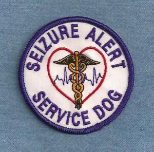 SEIZURE ALERT SERVICE DOG (PURPLE)      ------  service dog vest patch  ------