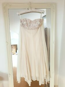Monsoon Peach Dress - Size 10 Embroidered - Worn Once, Perfect Condition