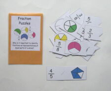 Teacher Made Math Center Educational Learning Resource Game Fraction Puzzles